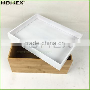 Bamboo Storage Box Storage Basket with Lid Homex BSCI/Factory