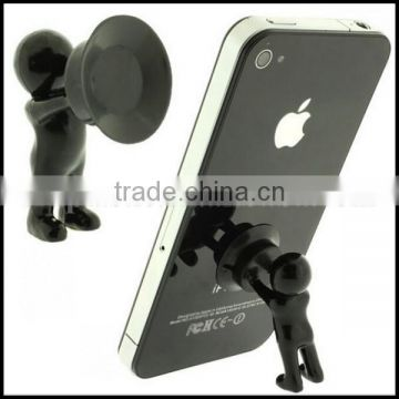 OEM funny boy shape plastic mobile phone holder for sale/High Quality Colorful Plastic boy shape cell Phone Holder wholesale
