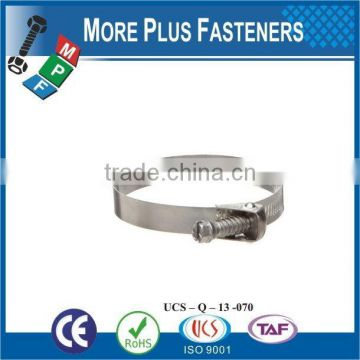 Made in Taiwan Stainless Steel strong types of hose clamps small hose clamps quick release