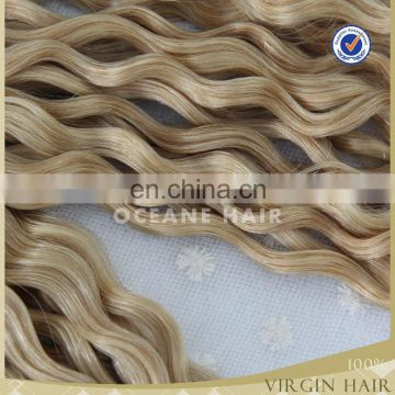 bulk buy from china grade 6A wholesale Brazilian remy human hiar weave blonde color hair V-Tip hair extension for afro