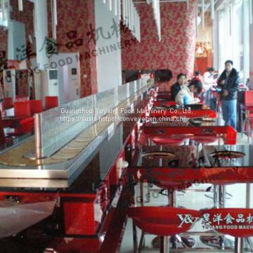 Sushi restaurant conveyor belt factory : michaeldeng@gdyuyang.com