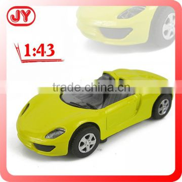Pull back die cast toy car miniature with EN71