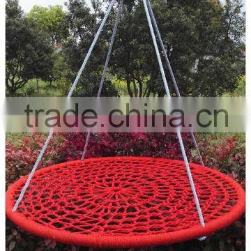 Round Metal Swing For Children Net Swing Swing Set Garden Swinging