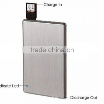 most thin credit card power bank with USB flash