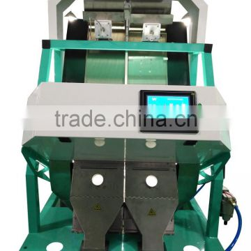 2 chutes Equipped Best peeling peanuts color sorting machine in China