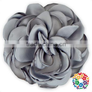handmade posh big fabric flowers for dresses,hair headband