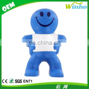 Winho PU Foam Squeeze Talking Captain Smiley Stress