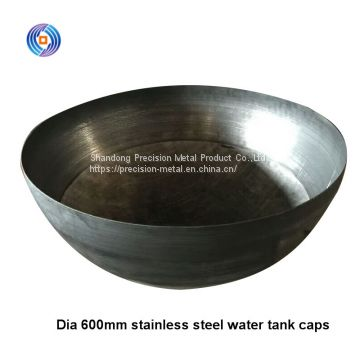 top Dia 600mm Thk 0.36mm 304 stainless steel water tank lids for horizontal tank