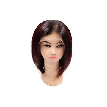 14 Inch Front Lace Human No Mixture Hair Wigs Cuticle Virgin Mixed Color 12 Inch