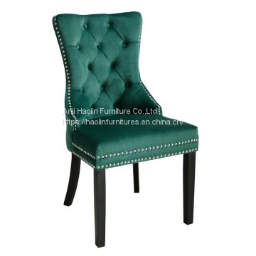 Velvet Count Chairs in Solid Wood ,Side chair Counters HL-6087-1
