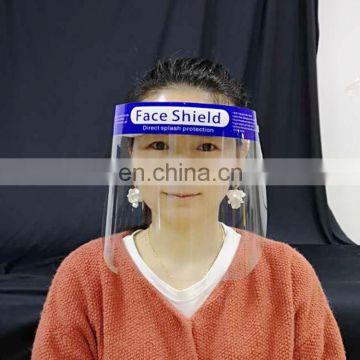 China In Stock Transparent and colorless ECO Friendly Eyes Mouth Nose Protection Safety Face Shield