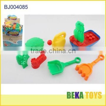 Kids Beach Toy Colourful Plastic Sand Beach Boat with various beach toy