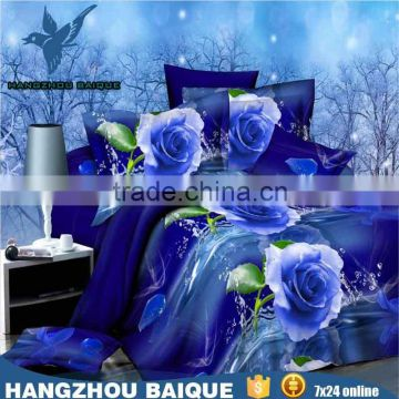 Polyester Beautiful 3D Bed Sheets Manufacturers in China with Rose Printed                                                                         Quality Choice