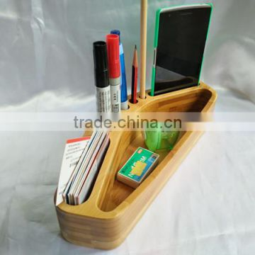 Cute design fashion bamboo table pen holder