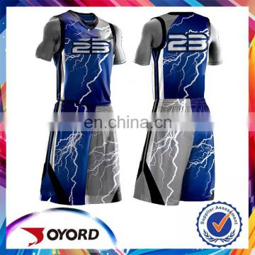 2017 100% Polyester quick dry latest new best design basketball jersey
