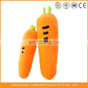 Stuffed carrot plush vetegable soft toys wholesale