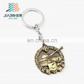 Wholesale Metal custom logo metal tank dubai key ring