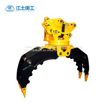 360 Degree Rotating Stone Grapple for SK120 Excavator