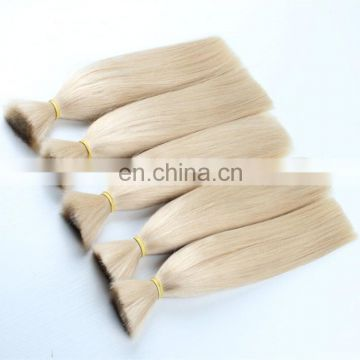 Top grade 100% unprocessed european russian virgin remy human hair extensions bulk remy human hair