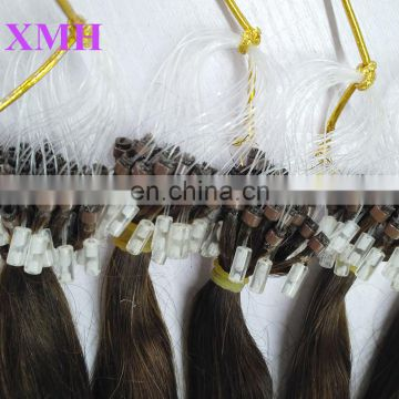 Made in China pure human hair extension 100% remy hair extension copper micro ring