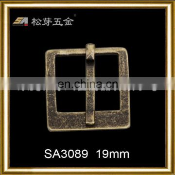 Creative new coming square antique brass pin buckle