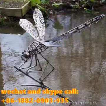Wrought Iron Insect Hollow Sculpture Garden Sculpture Customized  Popular Outdoor Decoration