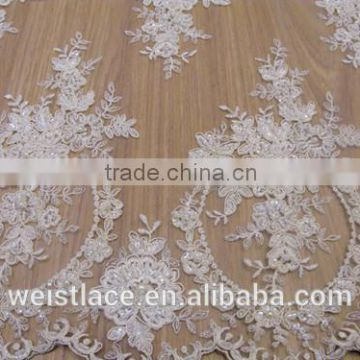 bead lace /bridal veil/ swiss style/embroidery and cord dress/romantic wedding dress