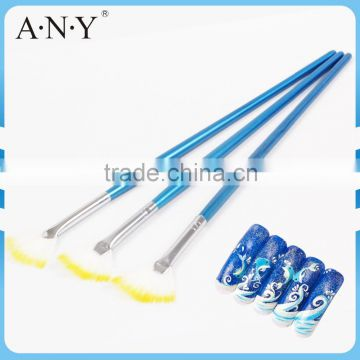 Starry Nails and Colorful Nails Building Design Wood Handle Fan Nail Art Brush Nail Art