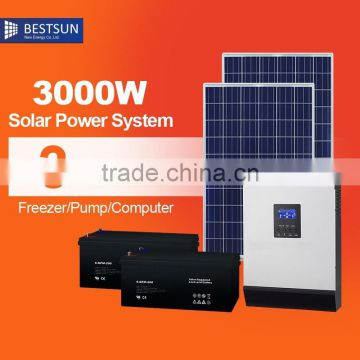 3KW 2017 Chinese factory price High efficency low price 255W solar power system for sale