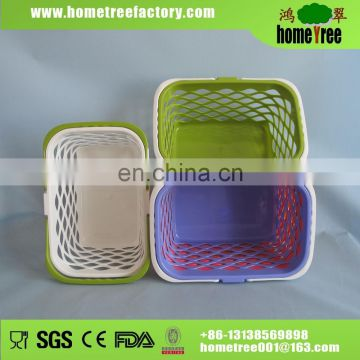Hot! Large Capacity Mulipurpose Portable Colorful Rectangular Plastic Net Basket For Daily Use