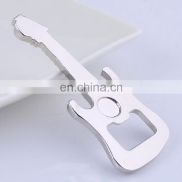 Guita shaped zinc alloy bottle opener in silver color