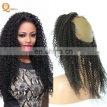 Shenlong 100% Unprocessed Virgin Indian Hair Kinky Curly Indian Remy Hair Lace Frontal 360 Curly Closure