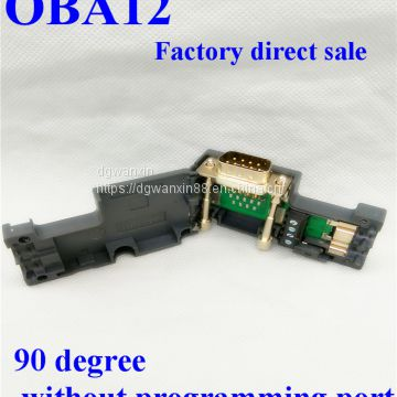 6ES7972-0BA12-0XA0 profibus DP bus connector 90degree without programming port