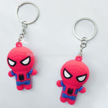 Plastic key ring figure miniature/3cm tall plastic pvc figure key chain
