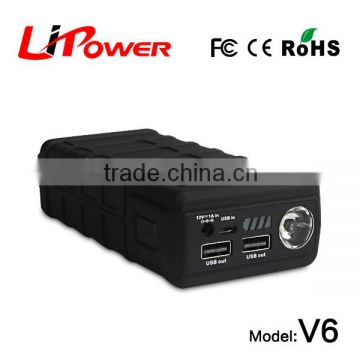 high capacity 12000mAh 12v lithium ion battery power bank 3 in 1 power station with battery cable