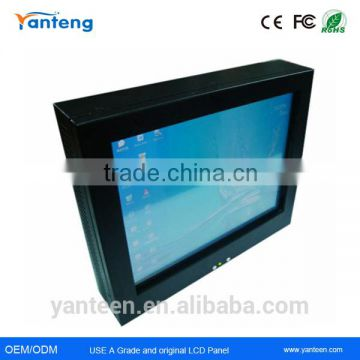 IP65 front plate17inch industrial fanless pc with black powder coated aluminum front cover