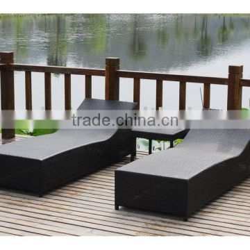 PE beach lounge/beach bed/outdoor bed