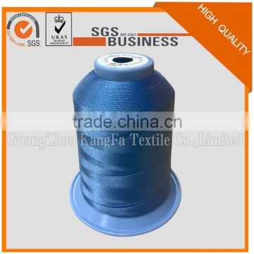 factory price 40# 1300M/roll 100% high tenacity spun 210D/3 polyester sewing thread for jackie-machine sewing
