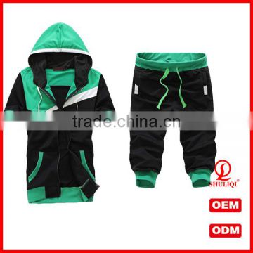 men's short sleeve hoodie Zipper Coats Middle Pants sport Suit xxxxl hoodies custom design