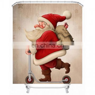 Christmas elk design shower curtain