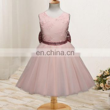 34d71174f Gold Sequin Flower Girl Dress Bow Organza Tulle Gown Birthday Outfit  Pageant Party of Dresses from China Suppliers - 157394592