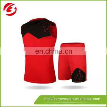 China Best Price basketball jersey black and red