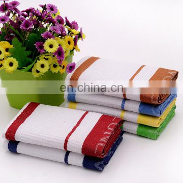 Wholesale Factory Price Waffle Jacquard Cotton Tea Towel