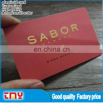 Large Capacity Employee Plastic Id Card,Sample PVC Id Card