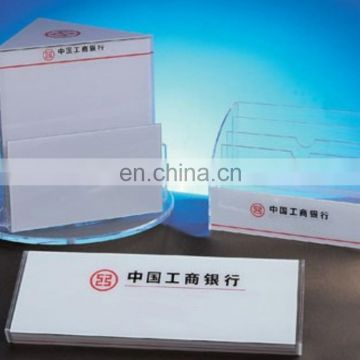 acrylic advertising business card display stand with logo