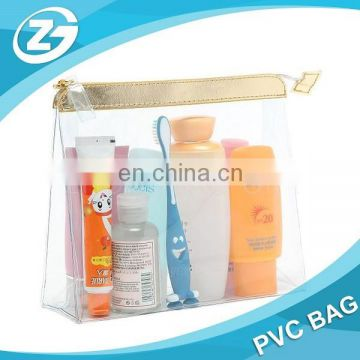 Transparent PVC Makeup Bags with Zipper PVC Plastic Toiletry Bag