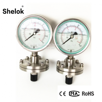 CE Manufacturer Oil Filled Diaphragm Stainless Steel Manometers, Pressure Gauges