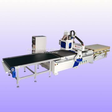 cnc router with boring drill groups for wood door and window