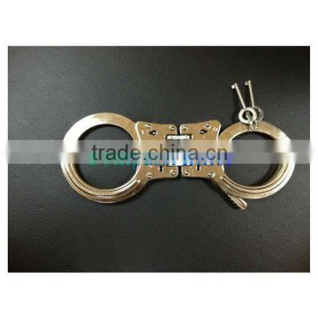 Military police double lock high-quality F-type carbon steel handcuffs