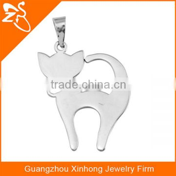 Fashion and beautiful gift wholesale Cat Shaped 316L Stainless Steel Pendant Necklace Body Jewelry